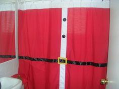 cortinas de baño navideñas - Buscar con Google