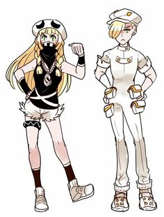Lillie and Gladion if Lillie had joined Team Skull as an alum, and Gladion was an Aether Paradise employee.