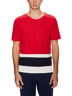 Panel Stripe Short Sleeve T-Shirt by Band of Outsiders at Gilt