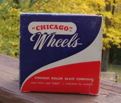 Vintage Box of 8 Chicago Skate Wheels 76P Plastic Offset - Estate - IOB #ChicagoWheels