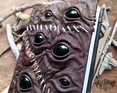 Journal de Creeper en cuir livre effrayant foncé à par MilleCuirs