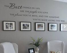 "English quote"" The Best Things In Life People Places "" Quote Vinyl Wall Decal Waterproof and Removable Sticker"