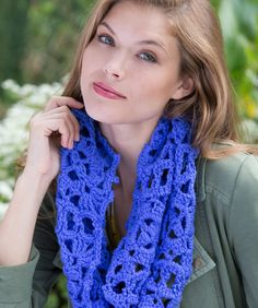 Picot Square Cowl by Red Heart.  Great new patterns, more intermediate ones also!