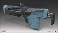Destiny - The Taken King - Jade Rabbit Scout Rifle, Mark Van Haitsma on ArtStation at https://www.artstation.com/artwork/1xDv8