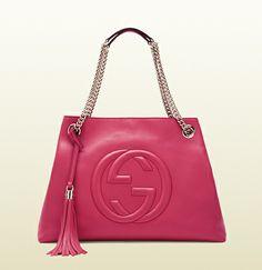 Gucci - borsa shopping soho con tracolla a catena