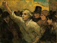 Honoré Daumier, El levantamiento - 1960 Oil on canvas, 87.6 x 113 cm (34 1/2 x 44 1/2 in); The Phillips Collection, Washington, D.C.
