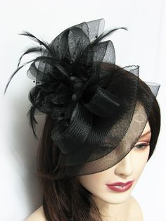 Hair Fascinator Hat Bow Shape Hair Clip - all colors $10.50