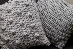 Big Bobbly Cushion free #crochet pattern by Merion Willis