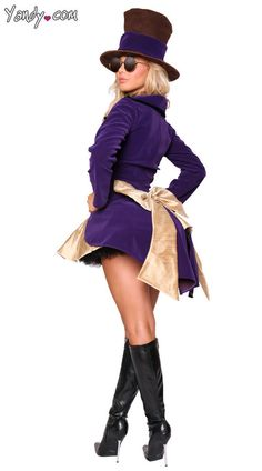 Sexy Willy Wonka Women's Costume- Halloween Costume- Size Large