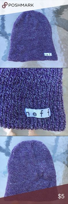 PURPLE NEFF BEANIE purple neff beanie i got when but never wore TAGS: forever 21, h&m, hot topic, zumiez Neff Accessories Hats