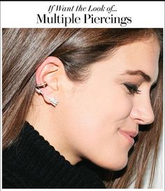Here's for all the girls that love the look of trendy, multiple piercings but don't want to commit (or hate pain): We've got a way to fake the look. Click and find out!