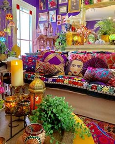 33 Stunning Bohemian Living Room Decor Ideas - The adjective 'shabby' has been given new life, especially after the Bohemian aesthetic came into vogue in the and It is a look that aims to . Bohemian House, Bohemian Room, Bohemian Interior, Colorful Interior Design, Contemporary Interior, Interior Ideas, Gypsy Room, Mexican Interior Design, Bohemian Tapestry