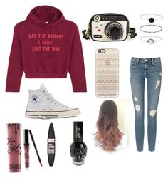 """""""🐇"""" by kenzie4ever11 on Polyvore featuring Vetements, Betsey Johnson, Accessorize, Frame Denim, Casetify, Converse, Maybelline and Kylie Cosmetics"""