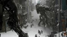 View an image titled 'Old Chicago Street Art' in our Destiny art gallery featuring official character designs, concept art, and promo pictures. Concept Art World, Game Concept Art, Cyberpunk, Dragons, Chicago Street, Destiny Game, Destiny Xbox, Destiny Bungie, City Background