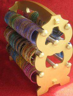 Wooden bracelet holder