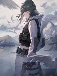 Yandere Anime, Anime Girl Neko, Anime Oc, Anime Art Girl, Kawaii Anime, Black Lagoon Anime, Guerra Anime, Rainbow Six Siege Art, Frost Rainbow Six Siege