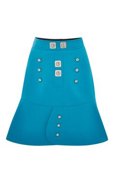 Blue Tessel Skirt with Buttons by Peter Pilotto Now Available on Moda Operandi