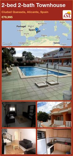 2-bed 2-bath Townhouse in Ciudad Quesada, Alicante, Spain ►€79,995 #PropertyForSaleInSpain
