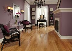 12 Stylish Lw Flooring Engineered Hardwood - 3 4 X 3 1 4 Select Red Oak Bellawood Lumber Liquidators. See Also 12 Types Of Hardwood Flooring Species Styles Edging Dimensions. Types Of Hardwood Floors, Engineered Hardwood Flooring, H Design, Design Ideas, Purple Walls, Red Oak, Natural Red, Living Area, Family Room