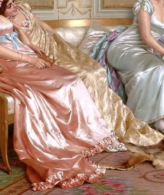 """The Lecture"" (detail) by Vittorio Reggianini (1858-1938)."