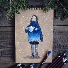 Та девочка с полной луной на сердце что собрала всю эту странную лесную компанию и угощает чаем Все участники чайной вечеринки по тегу: #ЗверушкиВСвитерахИСКружкой  #drawing #winter #december #letitsnow #snow #teatime #art #myart #sketchbook #pencils #colorpencils #Instagraminrussia #instagramrussia #girl #fairytale #magic #инстаграмнедели #artwork #artofdrawingg #arts_gallery #sketch_daily #topcreator #art_we_inspire #illustrationartists #рисунок #карандаши #блокнот by liaselina