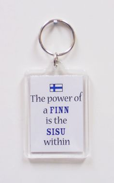 Power of a FINN is the SISU Within Key Chain - I really wish I could buy these in Finland too ;-) want iiiit Finnish Tattoo, Helsinki, Aesthetic Clinic, My Heritage, Bumper Stickers, Norway, My Love, Words, Quotes