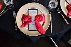 Dinner Napkins- Bows, RSVP by Cynthia Design