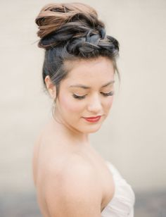 braided hair bun