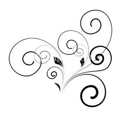 Swirl Floral Stock Image