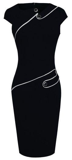 HOMEYEE Women's Voguish Colorblock Wear to Work Pencil Dress B231 at Amazon Women's Clothing store:  https://www.amazon.com/gp/product/B01E5AHA6C/ref=as_li_qf_sp_asin_il_tl?ie=UTF8&tag=rockaclothsto-20&camp=1789&creative=9325&linkCode=as2&creativeASIN=B01E5AHA6C&linkId=35847e6b2c2e18c0fef1087f600a420c
