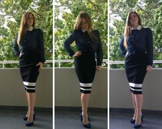 Wear one skirt four ways and look fabulous at the office this winter. Sports Luxe, The Office, Peplum Dress, Pencil, Skirts, How To Wear, Dresses, Fashion, Vestidos