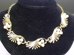 Vintage Signed Coro Goldtone & Faux Pearl Necklace #Coro