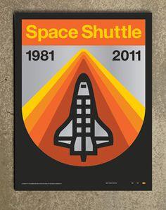 Draplin Space Shuttle Poster Set