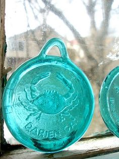 2 Glass Window Ornaments  Vintage by fawnpotter on Etsy, they sold already =(