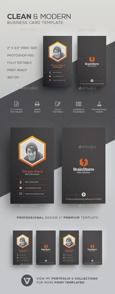 Clean Modern #Business #Card Template