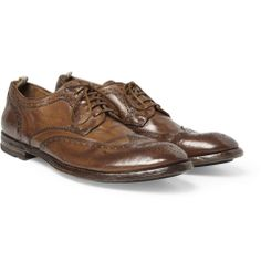 Officine Creative - Burnished Leather Wingtip Brogues