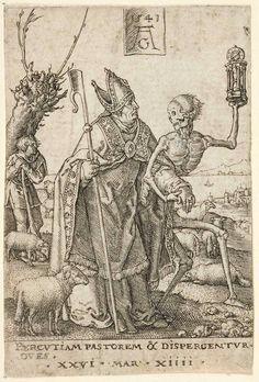 Heinrich Aldegrever (fish hat) (monotheism is all about death)