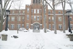 The Administration Building in the winter - Manchester University