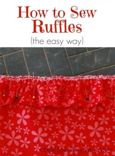 How to sew ruffles the easy way - so much faster!