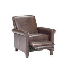 Natuzzi Editions B592 Contemporary Leather Leg Recliner Baers