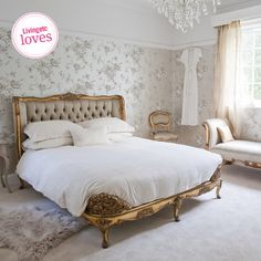 Welcome to the French Bedroom Company, award winning French furniture boutique. Explore our inspiring range of French beds and luxury bedroom furniture. Feminine Bedroom, Modern Bedroom, Bedroom Decor, Gold Bedroom, Bedroom Ideas, Contemporary Bedroom, Bedroom Designs, Bedroom Inspiration, White Bedroom