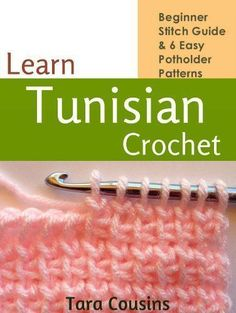 Free Kindle Book - [Crafts & Hobbies & Home][Free] Learn Tunisian Crochet: Beginner Stitch Guide & 6 Easy Potholder Patterns (Tiger Road Crafts Book Crochet Afghans, Tunisian Crochet Patterns, Potholder Patterns, Easy Patterns, Blanket Patterns, Learn To Crochet, Easy Crochet, Free Crochet, Crochet Basics