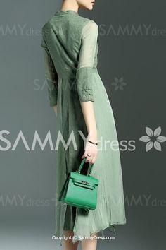 Elegant Sleeve Mandarin Collar Midi Dress For Women Sammy Dress, Mandarin Collar, Dresses Online, Dresses With Sleeves, Elegant, Long Sleeve, Sweaters, Stuff To Buy, Shopping
