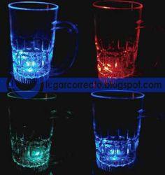 TARROS CERVECEROS CON LUZ - LED RGB CAMBIOS DE COLOR AUTOMATICOS - lugarcorrecto blogspot.mx
