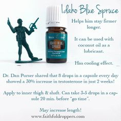 """school"""" for him - Balancing the Hubby's hormones with essential oils - Faithful Droppers Essential Oil For Men, Oils For Men, Essential Oils Guide, Young Living Essential Oils, Essential Oil Blends, Idaho Blue Spruce, Easential Oils, Healing Oils, Young Living Oils"""
