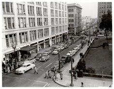 SW Morrison St, 1949 Meier and Frank