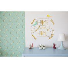 Sticker doré Home sweet home : Mimi'lou - Berceau Magique