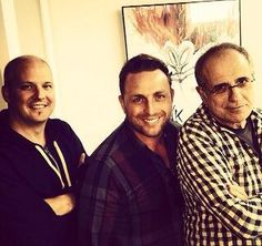 Ian Barter, Bob Ezrin and I. Great day listening to, writing and working on songs for the new album.