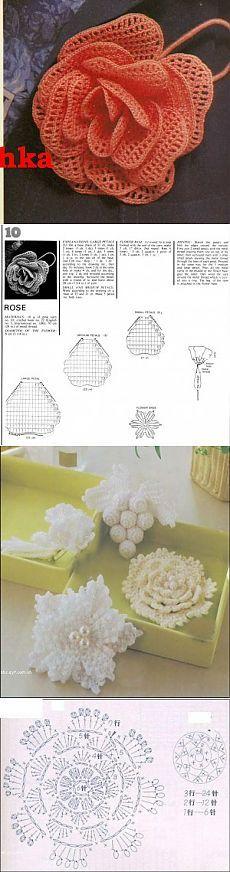 crochet flower: more patterns and diagrams - crafts ideas - crafts for kids красивые цветы крючком