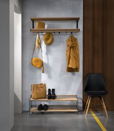 Make your hallway ready for autumn with our new hat and shoe rack Tamburin, designed by Andreas Klippinge. Flat Interior, Interior Design, Shoe Rack Living Room, Hat Shelf, Hallway Storage, Neat And Tidy, Living Room Designs, Modern Furniture, Houses